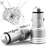 AaBbDd Dual Port USB Metal Alloy Car Charger, 2 Port USB Car Adapter,with Life Saving Hammer For Iphone And Android... - B013Q4U7H2
