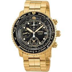 Seiko Men's SNA414 Flight Alarm Chronograph Watch