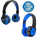 Captcha Datawind Devices Compatible Certified Wireless Bluetooth MS-771 Multi-function Headphone With Built-in TF Card Slot With S99 Mega Bass Series Bluetooth Headphone With Microphone(1 Year Warranty)
