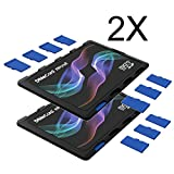DiMeCard Micro8 MicroSD Memory Card Holder - Color Wave Edition 2-PACK (Ultra Thin Credit Card Size Holder, Writable...