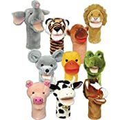 Plushpups Hand Puppets Set Of 10 By Get Ready Kids By Get Ready Kids