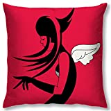 Right Digital Printed Clip Art Collection Cushion Cover RIC0017a-Red