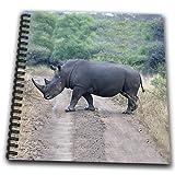 Angelique Cajam Safari Animals - South African Rhino side view - Memory Book 12 x 12 inch (db_20116_2)