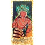 """Dolls Of India """"Bodhisattva From Ajanta Cave Painting"""" Batik Painting On Cotton Cloth - Unframed (60.96 X 29.21..."""