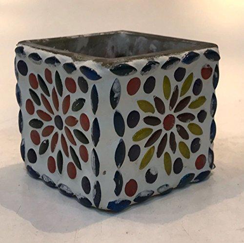 Dlite Crafts Multicolor Polka Design Home Decorative Votive Candle Holder, Set Of 2 PCs - B06XYKRH85