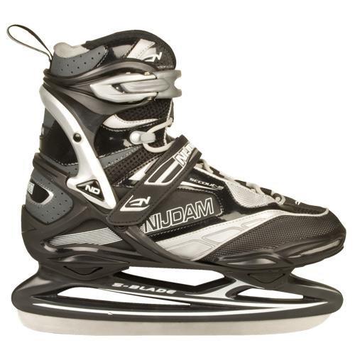 Nijdam Eishockey Schlittschuhe Semi-Softboot - Pro-Line (EU 40||schwarz silber)