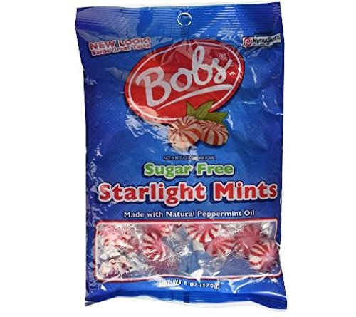 Bobs Sugar Free Starlight Mints Hard Candy (Pack of 4) 6 oz Bags