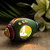 Exclusivelane Terracotta Handpainted Shankh Shaped Table Tea Light Holder -T Lights, Hanging Lights, Decorative...