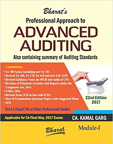 Professional Approach to Advanced Auditing -CA/CMA Final