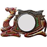Ghanshyam Art Wood Camel Wall Mirror (45.72 Cm X 4 Cm X 30.48 Cm, GAC089)