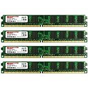 KOMPUTERBAY 8GB 4X 2GB DDR2 800MHz PC2-6300 PC2-6400 240 PIN DIMM Desktop Memory With Samsung Semiconductors