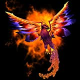 Pitaara Box Phoenix Bird - SMALL Size 16.0 Inch X 16.0 Inch - FRAMED CANVAS Wall Paintings With 6mm (0.24 Inch...