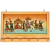 Little India Handicraft Gemstone Painting Key Hanger (Set Of 6, Cream)