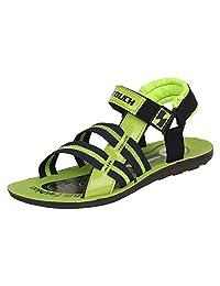 Bersache Men's Green Sandal & Floaters
