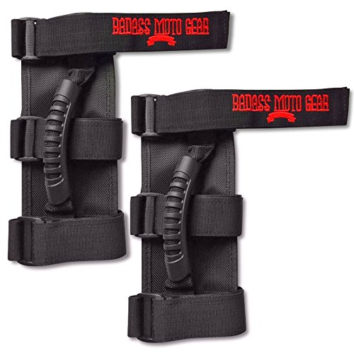 Badass Moto Gear Heavy Duty Grab Handle Set for Jeep Wrangler Roll Bars 2 Pack. Great Gift or Accessory for Off Road Enthusiasts. 100% Money Back Guarantee