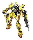I Robot Gundam yellow Diamond Blocks 595pcs Toy Set, 3D Figure Micro Blocks Fun Parent and Child Game. Fun Education Play Set.