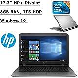 "Newest HP Pavilion Flagship High Performance 17.3"" HD+ Laptop PC   Intel Core I5-5200U Dual-Core   2.2 GHz   8GB..."