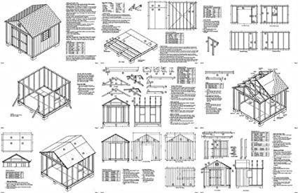 Storage building plans free 12x16, 10x10 shed plans ...