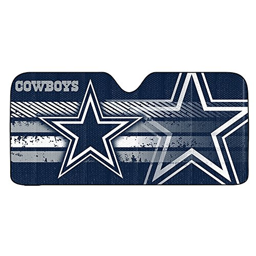 Dallas Cowboys NFL Sports Team Name and Logo Car Truck SUV Universal Fit Front Windshield Sunshade – Accordion Style