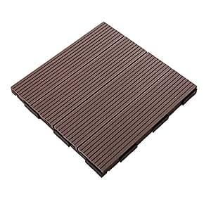12 x 12 Inch Outdoor Composite Interlocking Decking Tile