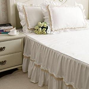 Amazon.com - Shabby and elegant off-white lace/white ...