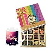 Ultimate Dessert Truffles Treat With Birthday Mug - Chocholik Belgium Chocolates