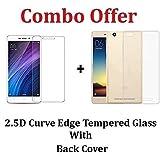 Shoppingmonk (COMBO OFFER) For Xiaomi Redmi 4A / Xiaomi Redmi 4a - - - Transparent Back Cover + Premium Tempered Glass Screen Protector - - - ( Transparent )