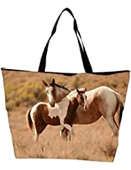 Snoogg Colorful Abstract Horse Designer Waterproof Bag Made Of High Strength Nylon