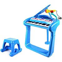 Vt Classical Elegant Piano Childrens Toy Keyboard Musical Instrument Play Set W/ Microphone, Stool, 37 Key Piano...