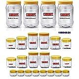 SUNPET PREMIUM ROUND JAR SET No. 108840-24 OF 24 Pcs