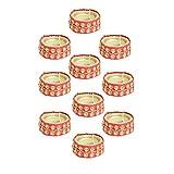 Kriti Creations Set Of 10 Traditional Wax Filled Clay Diyas - B0179B84N2