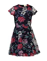 Budding Bees Girls Multicoloured Fit & Flare Dress