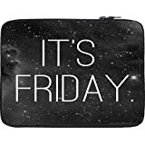 Snoogg Its Friday! 12 To 12.6 Inch Laptop Netbook Notebook Slipcase Sleeve