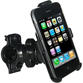 Amzer Bicycle Handlebar Mount for iPhone 1G, 3G, 3G S (Black)