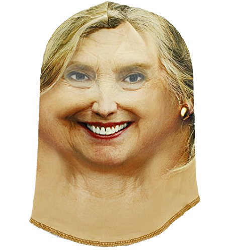 Trump and Clinton Halloween Costumes - Choose Edgy or Funny - Hillary Rodham Clinton Halloween Costume Face Mask - One Size Fits Most