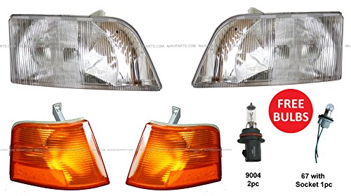 1998-2003 Volvo VNL 1998-2015 Volvo VNM Truck Headlight with Corner – SET