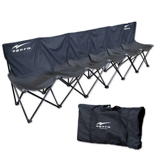 AGORA 6 seater bench with backrest
