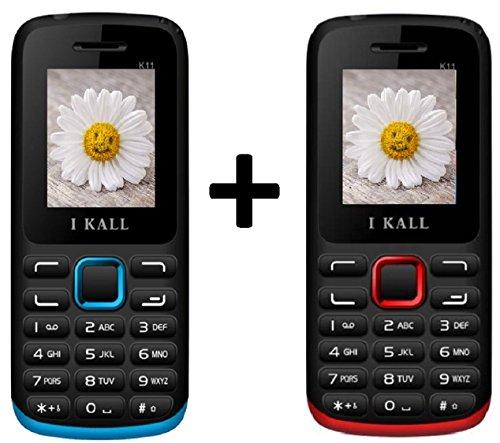 I KALL K11 Dual Sim Mobile Buy 1 Get 1 Free - Red & Blue