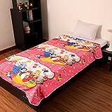 Factorywala Super Soft Princess Cartoon Kids Design Print Reversible Single Bed Dohar/Blanket/AC Dohar
