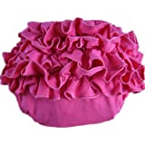 Buenos Ninos Girl's Cotton Shorts Top Baby Bloomer Diaper Covers Various Colors Hot Pink M