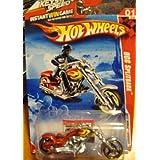 Hot Wheels 2010 Race World Occ Splitback Red Motorcycle #193