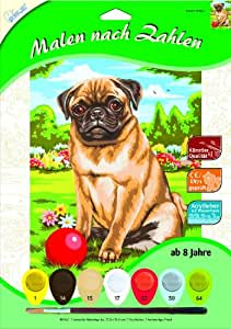 pug care game amazon com painting by numbers pug toys games 2125