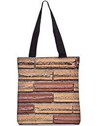 Snoogg Bricks On The Wall Digitally Printed Utility Tote Bag Handbag Made Of Poly Canvas