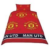 MANCHESTER UNITED MAN UTD FOOTBALL MUFC SINGLE BED DUVET QUILT COVER BEDDING SET