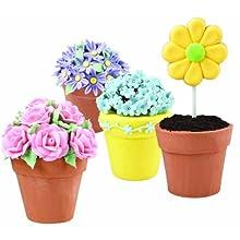 Wilton 2105-0818 Easter 6-Cavity Flower Pot Cake Pan
