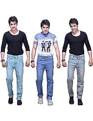 X-CROSS Men's Slim Fit Jeans Combo (Pack Of 3) - B0132WZ5GG