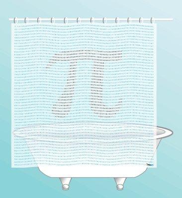 Images Of Aperture Laboratories Shower Curtain