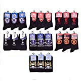 Mens Official Football Team Club Crest Design Socks Mens Cotton Lycra Blend Pattern Design Socks Shoe Size 6-11 Arsenal FC