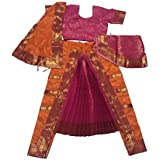 Bharatanatyam Readymade China Silk Costume For Fancy Dress Competitions/School Events/Annual Functions - B06XR966LY