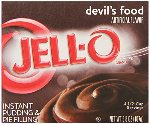 Jell-O Instant Pudding and Pie Filling, Devil's Food, 3.8-Ounce Boxes, (Pack of 6)